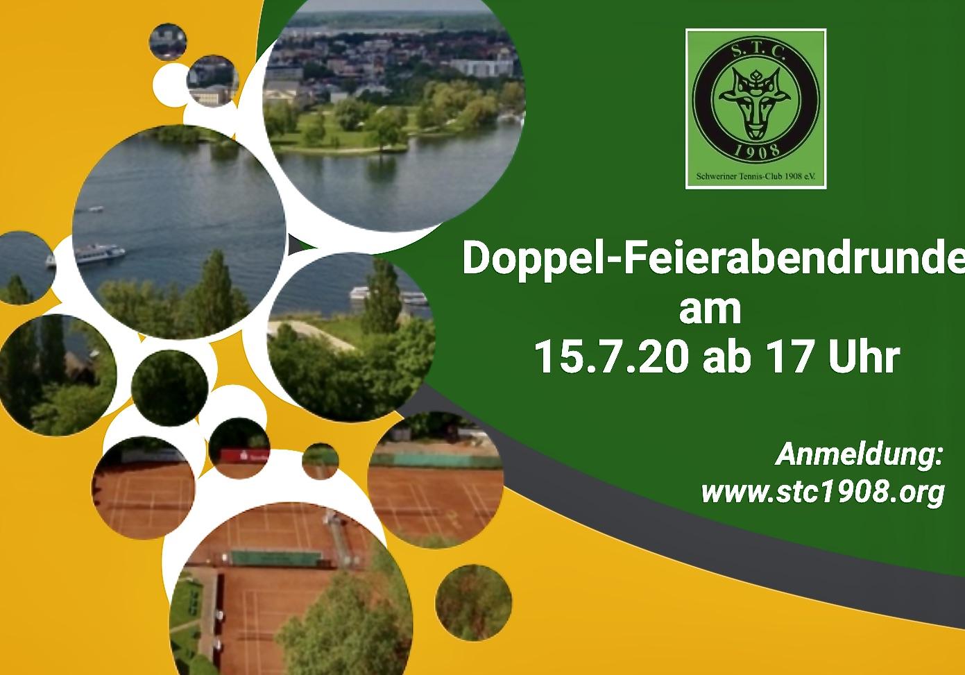 Feierabend-Doppelturnier verlegt vom 15. auf den 17.7.20